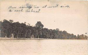 G21/ Tippecanoe Lake Indiana RPPC Postcard 1910 Cottages Shoreline