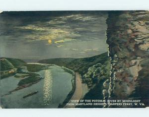 Divided-Back WATER SCENE Harpers Ferry West Virginia WV hk3205