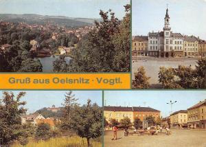 Gruss aus Oelsnitz Vogtl. Uebersicht Rathaus Schloss Castle Panorama
