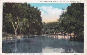 PUEBLO, Colorado, 1900-1910's; Lake Clara, Mineral Palace Park