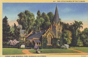 Calfornia Glendale Forest Lawn Memorial Park The Little Church Of Flowers