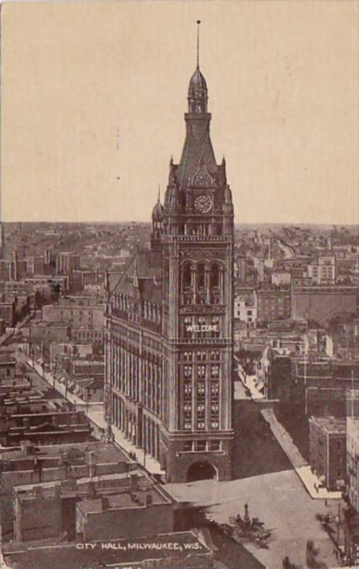 Wisconsin Milwaukee City Hall 1910