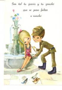 Postal 024585 : Dibujo pareja