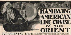 1903 Hookah Shisha Water Pipe Hamburg Cruise Line Original Print Ad 2T1-47