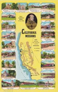 Map Of California Missions