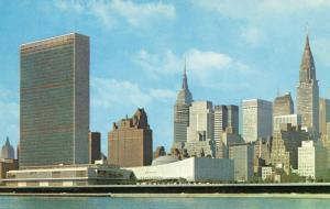 NY - New York City. United Nations Buildings, Tudor City, Empire State, Chrys...