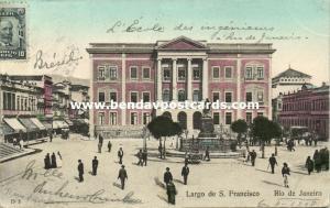 brazil, RIO DE JANEIRO, Largo de S. Francisco (1908) Stamp