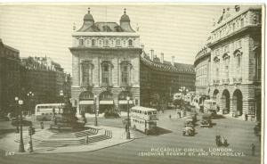 London, Piccadilly Circus, 1930s used Postcard