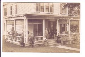 Real Photo, Family on House Porch, AZO, 1905-1909