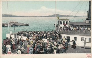 WINNIPESAUKEE, New Hampshire, 1900-10s; Boarding Steamer at Weirs Lake