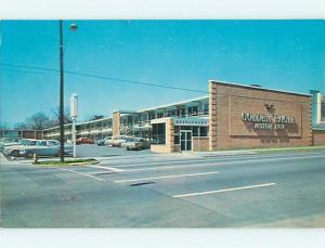 Unused Pre-1980 OLD CARS & GOLDEN EAGLE MOTEL Charlotte North Carolina NC u2810