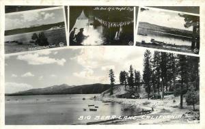 Big Bear Lake California Frasher Multi View RPPC real photo postcard 5507