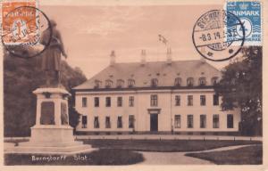 Bernstorff Slot Denmark Statue Denkmal Old Postcard