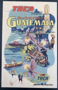 Mint Advertising Picture Postcard Taca Airways System Guatemala Land Of Eternal