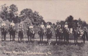 Horseback Riders At Camp Woodland Londonderry Vermont 1940