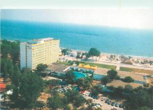 Romania Mamaia Hotel Flora & Black Sea seascape postcard