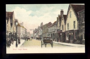 TQ3149 - Herts - Horse drawn Carts & Wagons on High Street in Ware - postcard