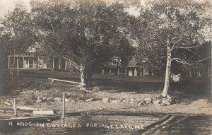 RP: PORTAGE LAKE , Maine , 1910 ; Bridgham Cottages
