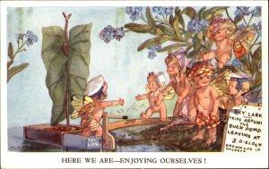 Fantasy - Madge Williams FAIRY Series Postcard ENJOYING OURSELVES