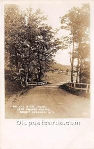 Old Vintage Shaker Post Card On the State Road, Near  Village, Real Photo Mou...