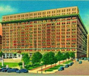 Wilmington Delaware DE Dupont Hotel Rodney Square Vtg Linen Postcard UNP