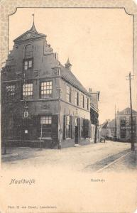 Naaldwijk South Holland~Town Hall~Raadhuis~Horse Livery~Logemet~1905 BW Postcard