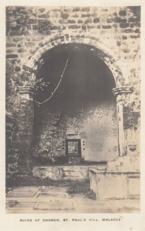 RP: MALACCA , 00-10s ; Ruins of Church , St Paul's Hill