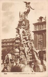 Italy Torino Monumento del Frejus Statues