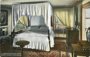 Mt Vernon Virginia~George Washington Home~Bedroom~1910 Vintage Postcard
