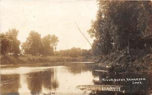 F35/ Hawarden Iowa RPPC Postcard c1910 River Scene 1