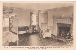 Virginia Fredericksburg George Washington's Bedroom In Home Of Mary Moth...