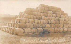 LP78    Sioux Falls Iowa Postcard RPPC Barrels of Fun