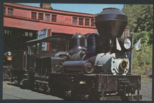 Steamtown Locomotive Engine 1 Shay Logging Steam Railroad Train Vermont Postcard