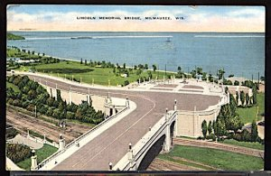 USA Lincoln Memorial Bridge Milwaukee Wisconsin  CDS 1941