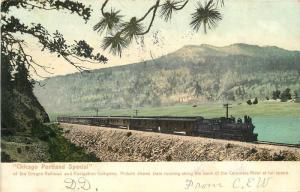 Chicago Portland Special 1906 Oregon Railroad Rochester undivided postcard 9332