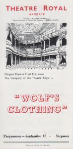 Wolfs Clothing Kenneth Horne Rare Theatre Royal Margate Kent Programme