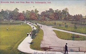 Riverside Park East From Bear Pit Indianapolis Indiana 1909