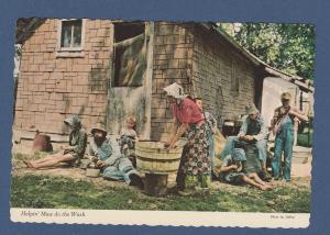 Ozarks Livin' Postcard Hillbilly Style Helpin' Maw Do The Work