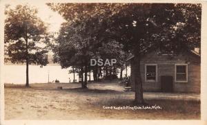 A74/ Lake Michigan Mi Real Photo RPPC Postcard Camp Kagle Outing Club c1910
