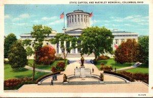 Ohio Columbus State Capitol and McKinley Memorial 1934 Curteich