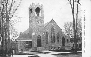 Saratoga Springs New York~Congregational Church B&W Postcard 1908