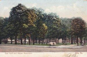 ERIE, Pennsylvania, PU-1906; East Park And Wayne Monument