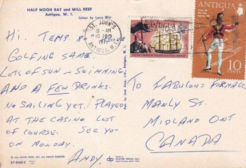 ANTIGUA, PU-1971; Half Moon Bay And Mill Reef