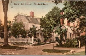 Cannon Ball House Ridgefield CT Hand Colored Vintage Postcard R09