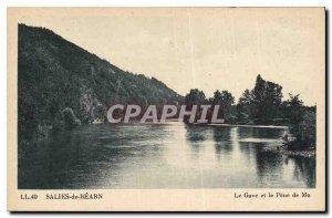 Old Postcard Salies de Bearn Gave and Pene Mu