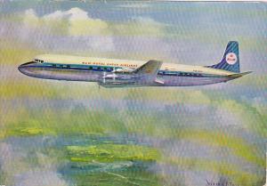 KLM Royal Dutch Airlines Douglas DC-7C In Flight 1959