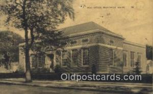 Brunswick, Maine USA,  Post Office Postcard, Postoffice Post Card Old Vintage...