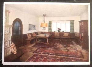 Mint Germany RPPC Color Picture Postcard Living Room Berghof Wachenfeld B