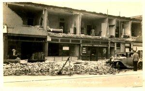 CA - Long Beach. Earthquake Ruins, 3rd near Pine Ave. March 10, 1933  *RPPC