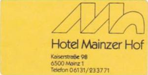 GERMANY MAINZ HOTEL MAINZER HOF VINTAGE LUGGAGE LABEL